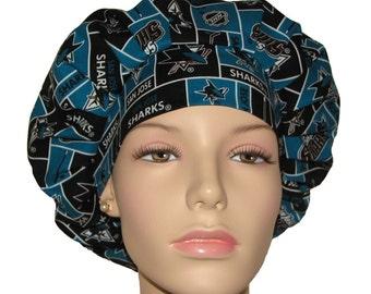 Scrub Hats - San Jose Sharks NHL Fabric