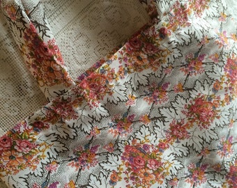 Fabric Tote Shopping Bag - Vintage Flowers