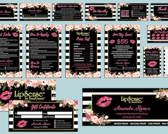 LipSense Marketing Kit, LipSense Marketing Bundle, SeneGence Business Card, LipSense Business Card, Pink Lip Package, LS02