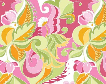 Riley Blake Designs Fabric Extravaganza Floral Pink Fabric - 1 yard