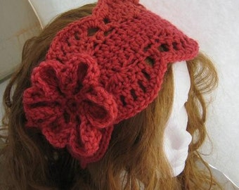 Crochet Ear Warmer Pattern for Women, Pdf Crochet Pattern, Lacy Earwarmer/Headband/Headwrap Crochet Patterns