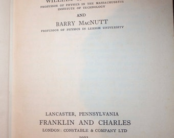 Heat- a text book for colleges and technical schools1923 by franklin & macNutt