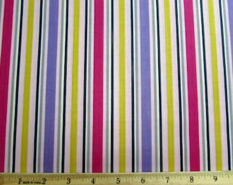 Purple, Pink and Yellow Stripe Fabric From Quilting Treasures