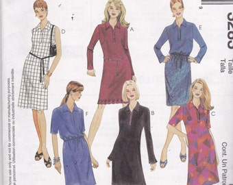 McCalls 3283 Vintage Pattern Womens Semi Fitted Dress, Blouse and Bias Skirt Size 6,8,10 UNCUT