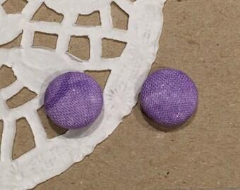 Purple Fabric Studs