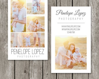 Vertical Business Card Template - Photography Business Card - Photo Photoshop Design - BC11