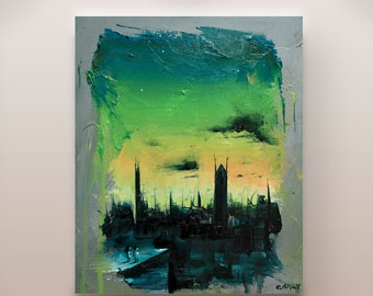 Green Stars - Limited edition giclee print