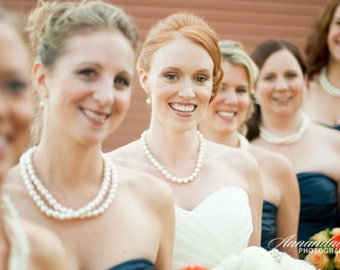 Custom Bridal Jewelry Bridal Pearl Necklace brides bridesmaids