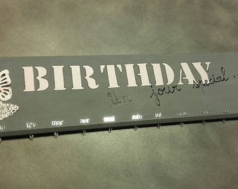 Birthday wooden perpetual calendar
