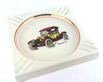 Antique Chevrolet 1913 Ashtray, 1960s Ashtray, Mid Century Ash Tray, Smoking Accessories, Cigarettes, Cigars, Man Cave, Automobiles