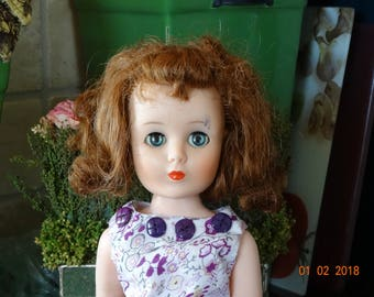 20 inch 1950's Sweet Sue Sophisticate/Toni doll with one leg for TLC or display