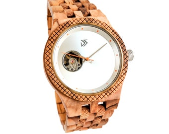 Wood Watch, Mens Wooden Watch, Wood Watch Engraved, Personalized Watch, Birthday Gift for Him, Anniversary Gift for Boyfriend, Husband Gift