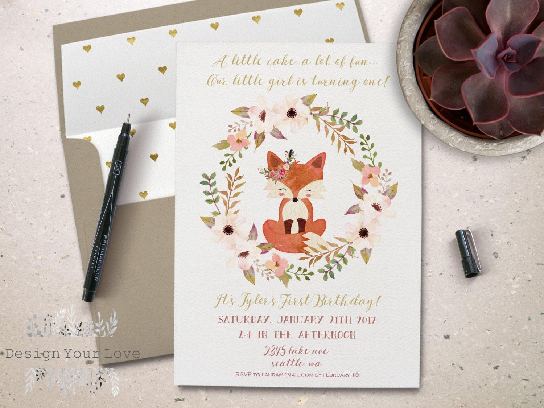 Printable Birthday Stationery Paper ~ Printable girl's birthday invitation printable birthday