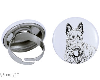 Ring with a dog - Scottish Terrier