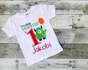 Monster Shirt, First Birthday Shirt, Little Monster