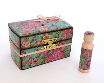 Small Sewing Box and Needle Case Set Sewing Notions Box Gift for Sewers Button Box Pin Cushion Etui Sewing Kit Gift for Her Gift for Mom