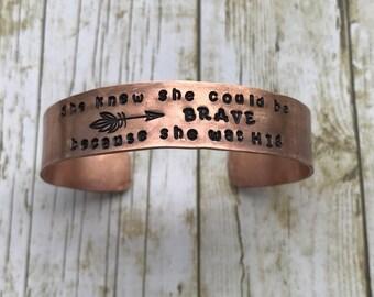 She knew she could be brave bracelet
