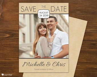 Gentle Seal Save The Date - traditional, classic, save the date, seal, sealed, photos, dates, day, border, lines, framed