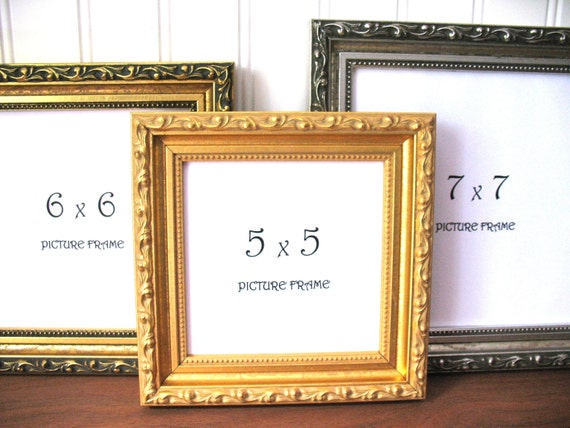 SQUARE FRAME Ornate Gilded Antique Gold & Silver Picture Instagram ...
