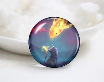10mm 12mm 14mm 16mm 18mm 20mm 25mm 30mm Handmade Round Cat Photo Glass Cabochon Dome Image Glass Cabochon  (P2505)