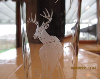 Buck on pilsner glass