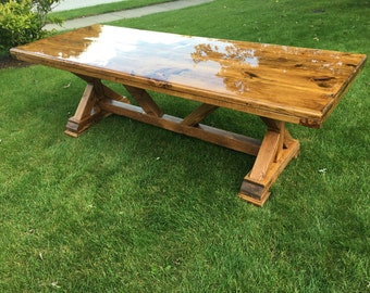 Rustic Kitchen Tables Rustic kitchen table etsy rustic kitchen table workwithnaturefo