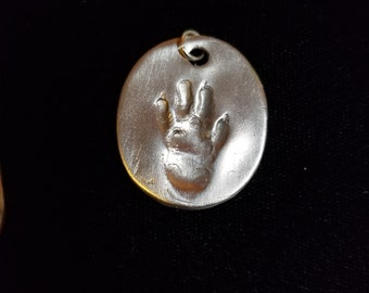 Sterling Silver Charm of a Fancy Rat's Paw Print