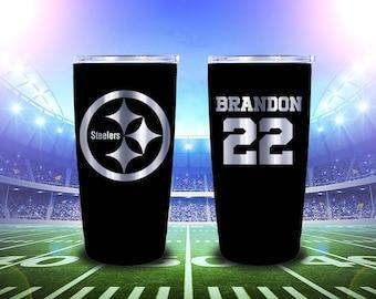 Yeti 20oz Pittsburg Steelers Laser Engraved tumbler