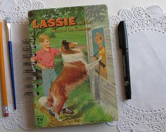 spiral bound art journal, altered book junk journal, Lassie junk journal