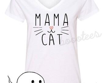 Funny Shirt Cat T-Shirt Tee Mama Cat Kitten Lover T-Shirt T Tee Mens Women Ladies Kitty Birthday Gift Present Adoption Crazy Cat Lady Meow