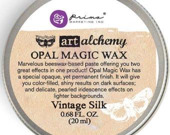 Finnabair Art Alchemy Prima VINTAGE SILK Opal Magic WAX .68 oz Altered Art Mixed Media Special Effects  964283