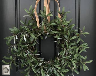 SPRING WREATH, PEACE Wreath, Peace On Earth Wreath, Olive Branches, Wreath, Olive Branch Wreath, Wreaths, Wreath with Olive Branches