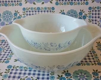 Colonial Mist Pyrex Cinderella Bowls #441, #443