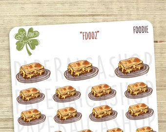 Lasagna Planner Stickers, Lunch Stickers, Eating Stickers, Italian Food Stickers, Dinner Stickers, Erin Condren Stickers | FD002