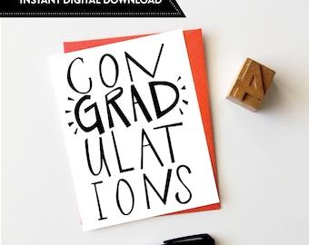 Graduation Card, Congratulations Card, College Graduation, Funny Graduation, Congrats Card, Greeting Card, High School Graduation, Grad Card
