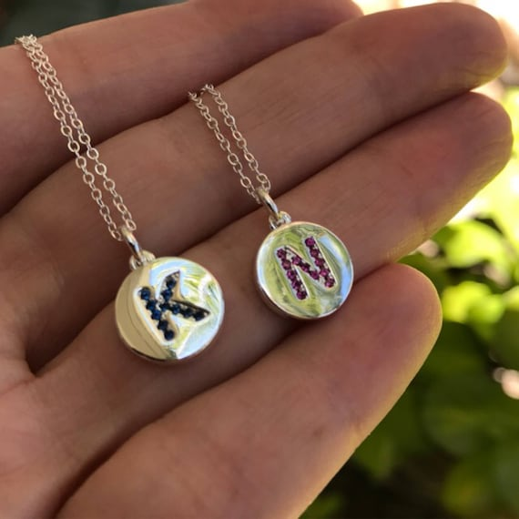 BFF necklaces, personalized necklace, intial necklace, initials jewelry, wedding necklaces, crystal jewelry, personalized jewelry