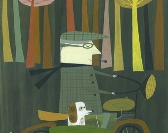 Riding Home.  Limited edition print by Matte Stephens.