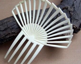 Vintage Art Deco hair comb sunray design French ivory hair accessory hair pin hair slide hair barrette
