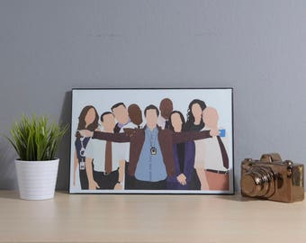 Brooklyn Nine-Nine Cast | Digital Art | 11x17 Poster