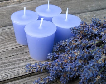 LAVENDER  (4 votives or 4oz soy jar candle)