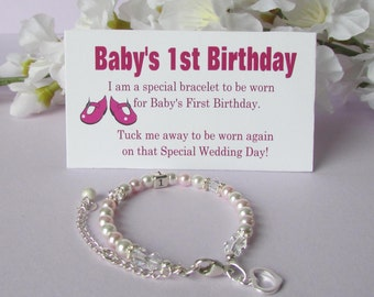 Baby's 1st Birthday Gift Bracelet Baby to Bride® Growing With Baby