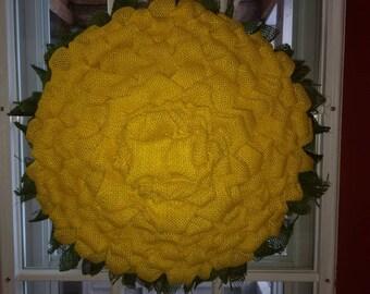 Majestic Marigold Flower Wreath