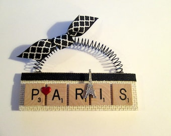 Paris I Love Paris Scrabble Tile Ornament