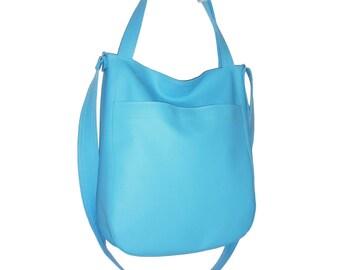 blue crossbody bag, blue bag, blue purse, blue tote, blue shoulder bag, blue hobo bag, blue crossover bag, blue daily bag, blue diaper bag