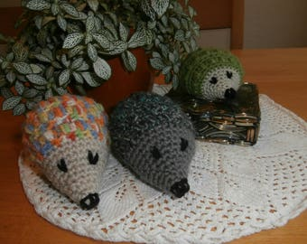 Crocheted hedgehogs - stuffed animals