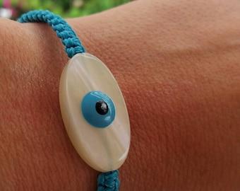 Bracelet, Macrame bracelet, Charm bracelet,  Handmade bracelet,  Evil Eye bracelet, Greek jewelry, Charm bracelet, Made in Greece