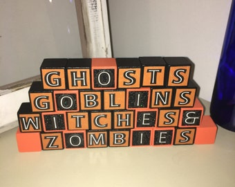 Halloween Mini Block Decoration