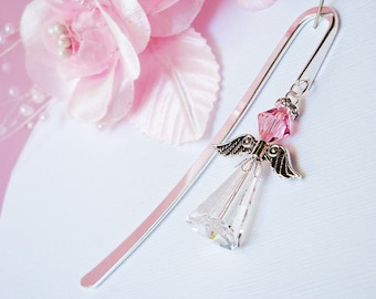 Crystal Angel Bookmark Pink Swarovski Crystal Book Mark