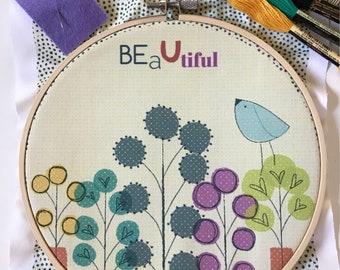 """Embroidery kit """"Beautiful"""""""