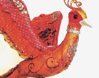 BIRD OF PARADISE cloth doll pdf pattern